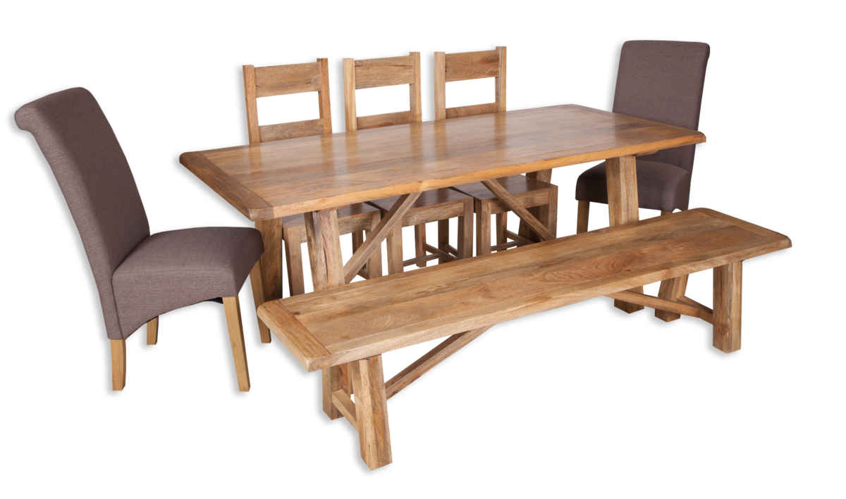 Marvelous Country Solid Mango Wood 2 00M Dining Bench Gmtry Best Dining Table And Chair Ideas Images Gmtryco