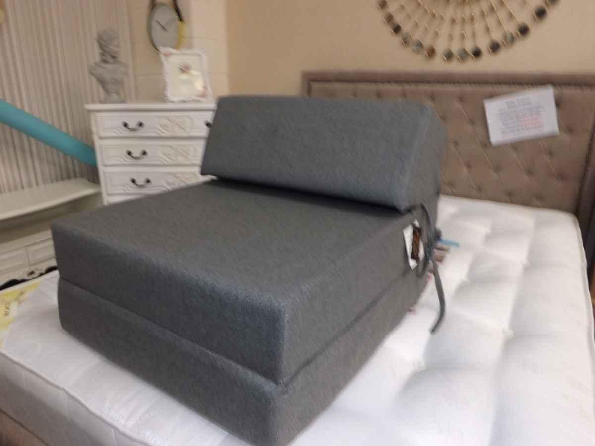Grey Flip Out Foam Chair Bed House Goods 4u