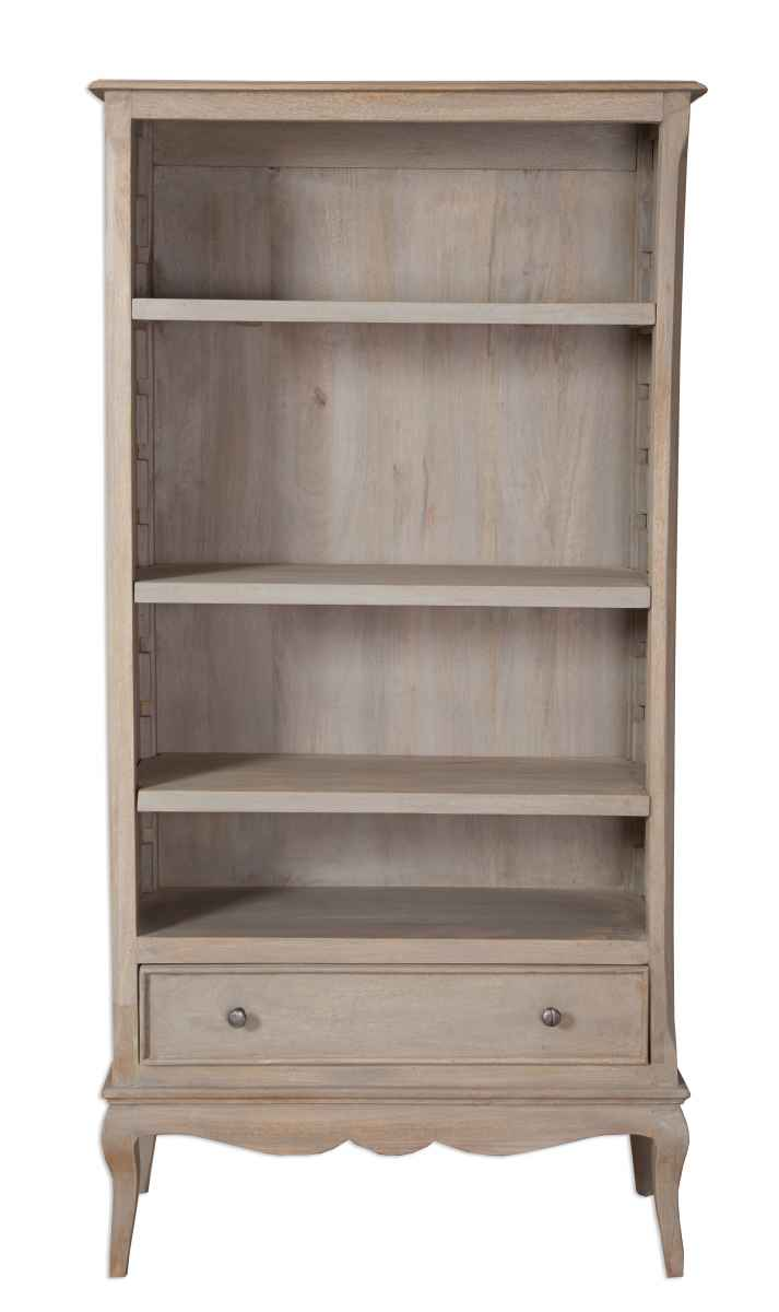 Brittany French Grey Wash Large Bookcase