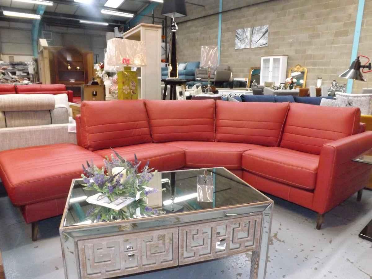 Designer Red Corner Sofa!! – House Goods 4U