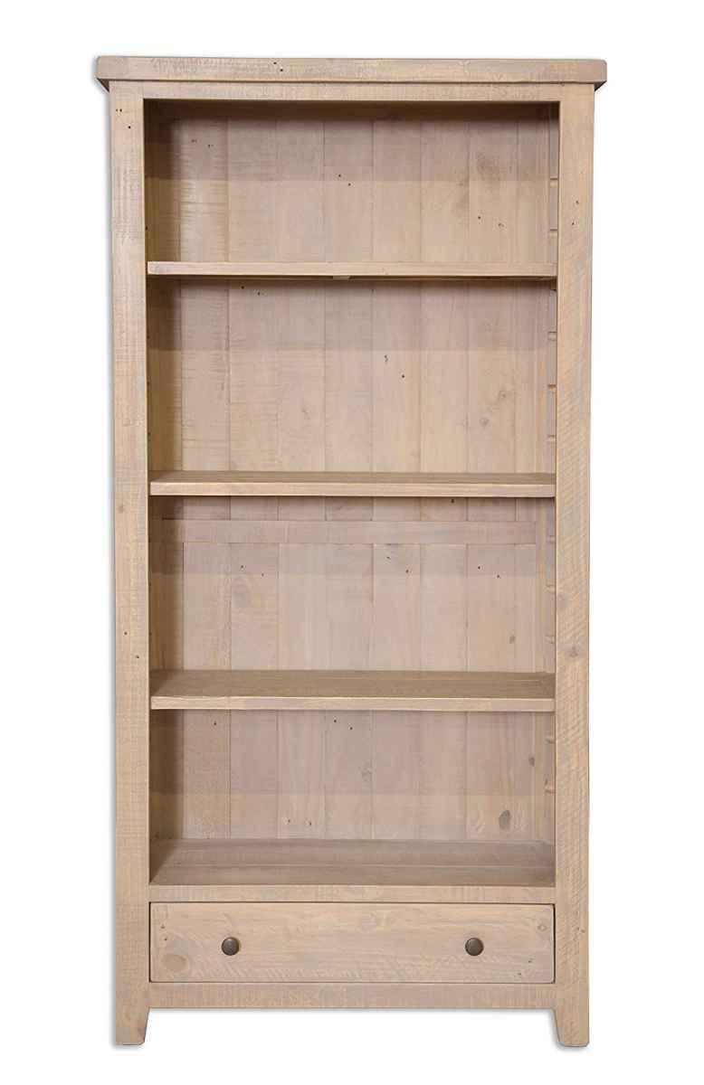 Coastal Grey Wash Reclaimed Large Bookcase