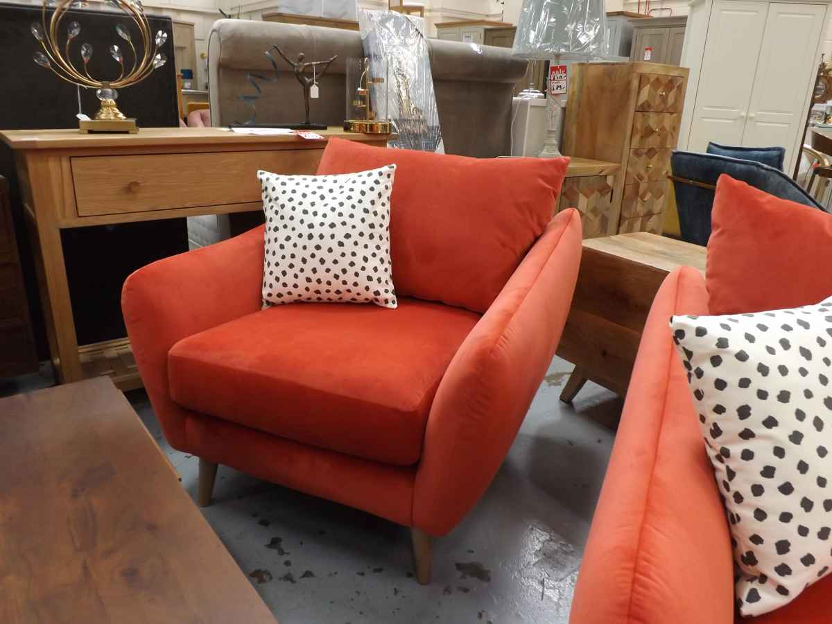 Yoko Coral Fabric 4 Seater Sofa With 2x Armchairs Rrp 163