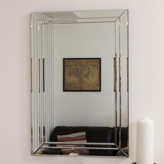 Cranbury All Glass Wall Mirror 90 X 60cm House Goods 4u